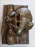 Hazel Dormouse - endangered species series by Dianne Preston, Sculpture, mixed media on canvas frame.