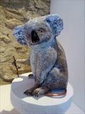 Koala - endangered species series by Dianne Preston, Sculpture, wire, plaster, papier mâché