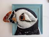 Puffin by Dianne Preston, Sculpture, mosaic, papier mâché