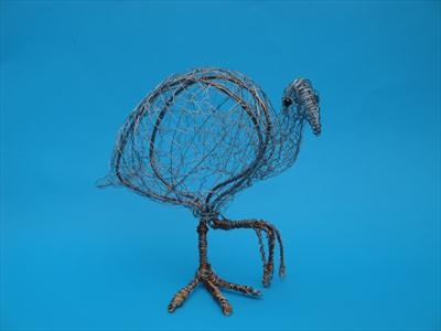 Coot Walking by Dianne Preston, Sculpture, Wire