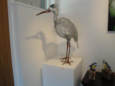 Heron 1 by Dianne Preston, Sculpture, wire