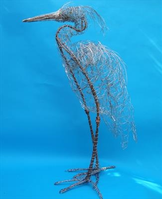 Heron by Dianne Preston, Sculpture, wire
