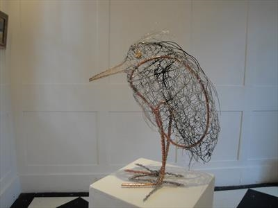 Little Hunch by Dianne Preston, Sculpture, wire