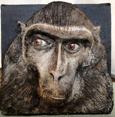 Zoo Macaque by Dianne Preston, Sculpture, Paper